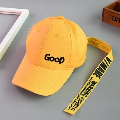 Boys Girls Summer Sunscreen Solid Color Baseball Cap Cotton Letter Embroidery Sports Cap