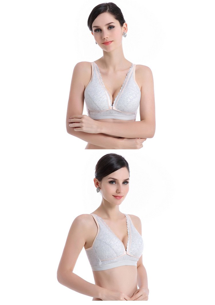 Cotton Wireless Maternity Bras Front Buckles Breastfeeding Bra Pregnant Bra Plus Size