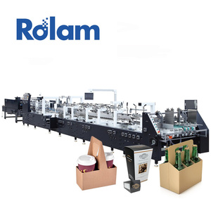 Automatic Corrugated Cardboard Carton Paper Packaging Box Making Machine Automatic
