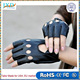Fashion Bamboo PU Half Finger Riding Driving Women Fingerless Gloves for motorcycle