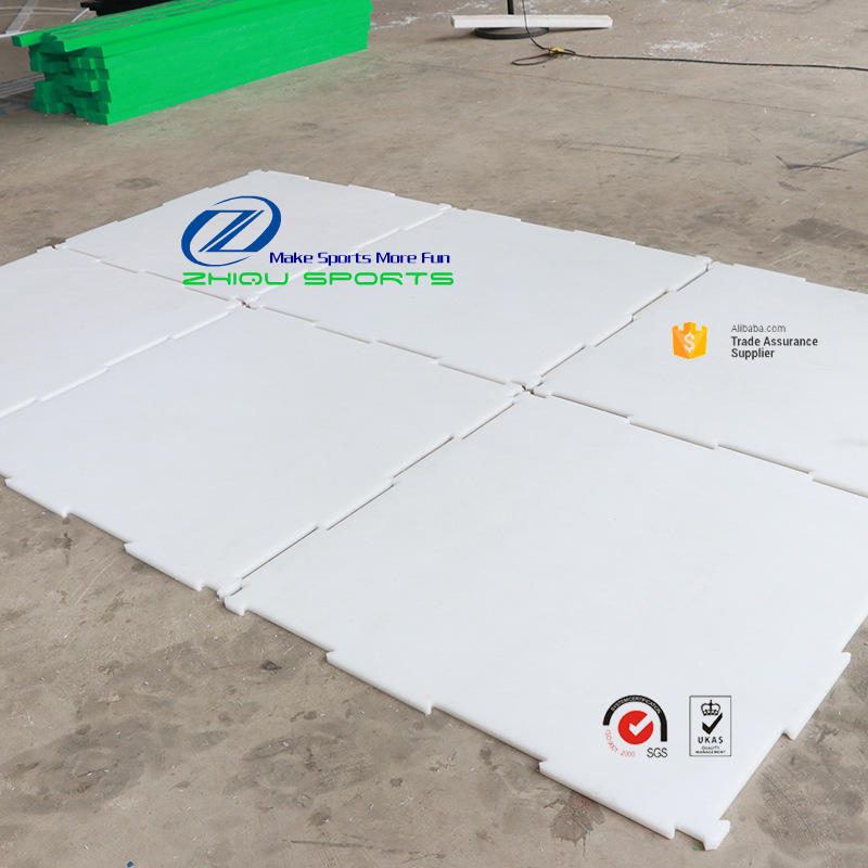 Most popular uhmwpe mobile ice rink/synthetic ice hockey shooting rink/plastic skating pad