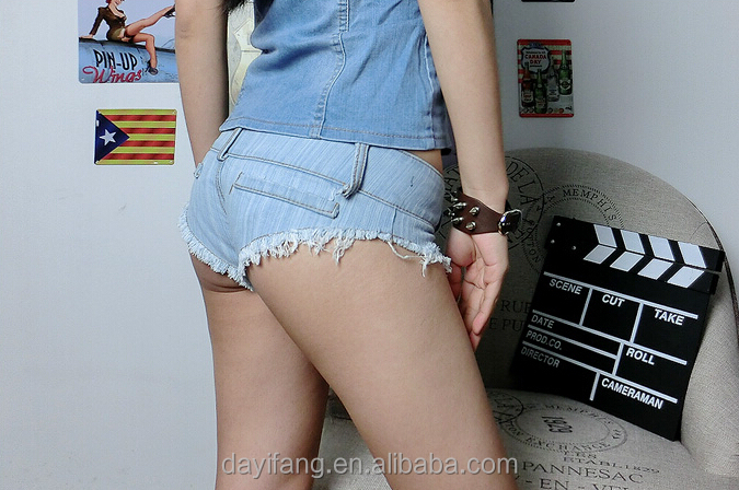 Fashion Girls Low Waist Tiny Sexy Denim Shorts Women Night Club ...