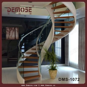 Circular Stair Acacia Wood Stair Treads Spiral Staircase Prices