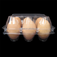 Free Sample Clear Plastic Egg Packaging Cartons Tray With 6 Holes