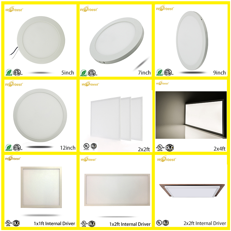 Worbest 9Inch 18W Dimmable Round Led Panel Light ETL Listed LED ceiling panel light