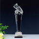 Wholesale Clear crystal glass sport trophy football shoe award for sport match