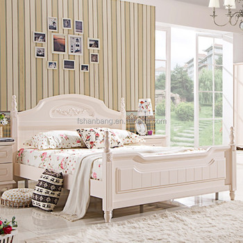 Remarkable Modern White Wooden Beds Pastoral Style Bedroom Furniture Double Bed Twin Bed Buy Wooden Beds Bedroom Furniture Double Bed Twin Bed Product On Uwap Interior Chair Design Uwaporg