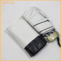 small pocket 5 folding umbrella with fabric case for travel