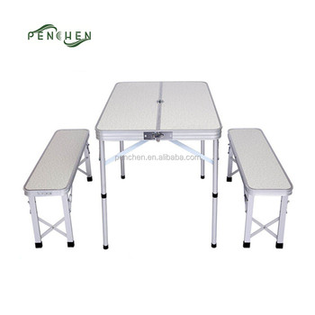 Handy Portable Folding Picnic Table And Chair Set For Traveling