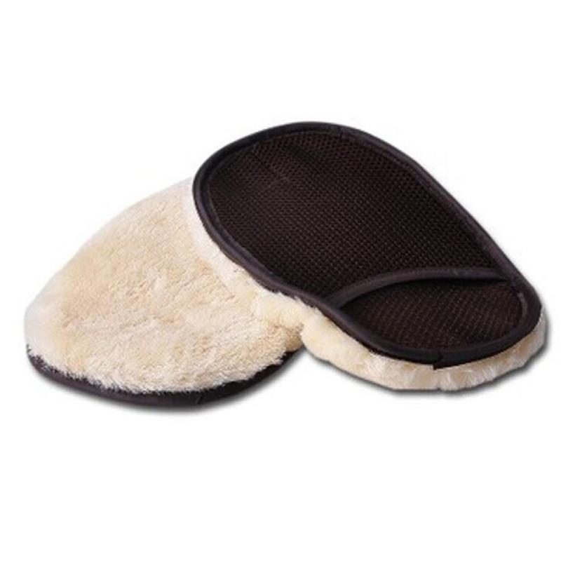 Стайлинга автомобилей универсальный толщиной растущая полировальником уход за кожей для очистки от пыли митт стиральная мягкая шерсть перчатки пылесос обслуживание инструмента