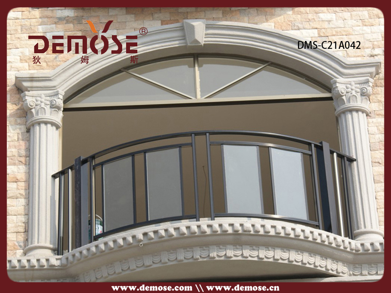 Balcony balustrade design aluminum exterior handrails for Exterior balcony railing design
