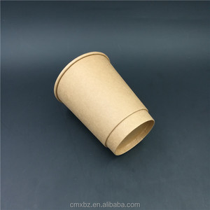 High end quality 14oz unique kraft paper double wall coffee cup