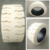 Non marking press-on solid traction style forklift tires 18x8x12 1/8 with discounted price for wholesale