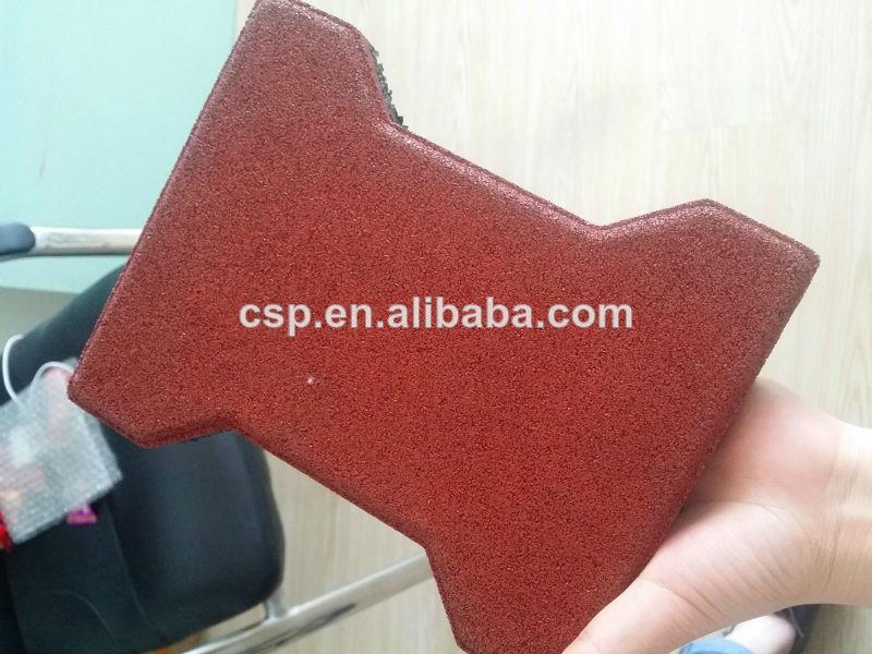 Eco amichevole materiale mattonelle di gomma per il parco cane