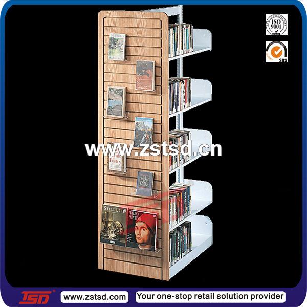TSD-M669 Custom high quality retail shop display book racks,book store  shelves,