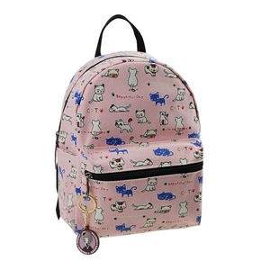 Fashion travel girls cute custom canvas full printing mini backpack