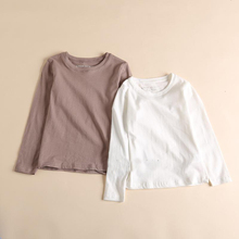 wholesale spring autumn cheap plain style solid color long sleeve 100% organic cotton boys girls t shirt baby clothes