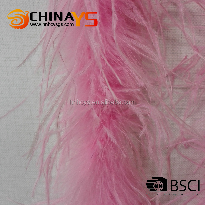 New design cheapest plumage pink ostrich feather boa party decoration on promotion