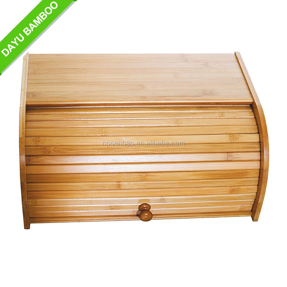 Good quality organic bamboo bread box for sale