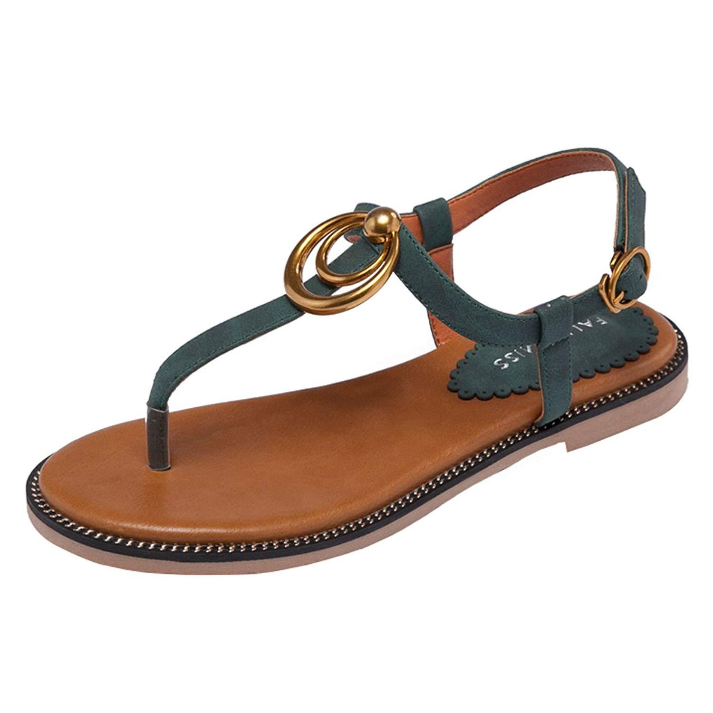 34d043b88ad5c Get Quotations · Sandals Women s Low Heel Flat Sandals Wild Beach Thong  Sandals