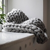 Super Chunky Merino Wool Braided Knit Blanket Throw