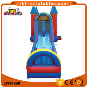 Inflatable bounce n double dip castle with landing