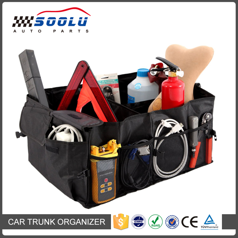 Multipurpose Collapsible Car Trunk Tool Organizer