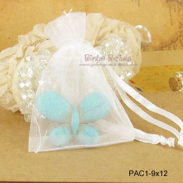 NEW SHEER VOILE Organza Wedding Gift Packing Bags JEWELRY POUCH 7x9 cm