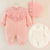Wholesale Autumn Winter Season Thick Soft Cotton Infant Baby Girl Clothes Newborn Baby Romper Sets