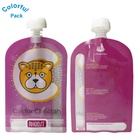 Customized colorful printing doypack ziplock reusable baby food spout pouch