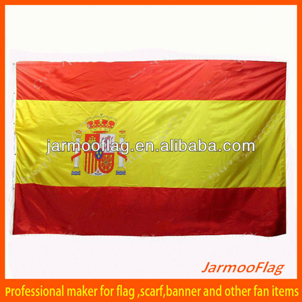 world cup Spain national flag in stock