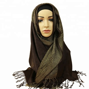 Muslim hijab Scarf Beautiful Woman Tassel Lady Scarf