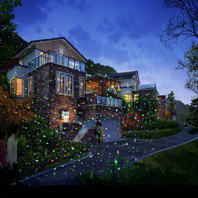 Rgb Movinf Firefly Garden Laser Christmas Light For Outdoor And ...