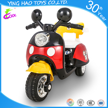 Newest kids outdoor electric motorcycle for wholesale with 3 wheels