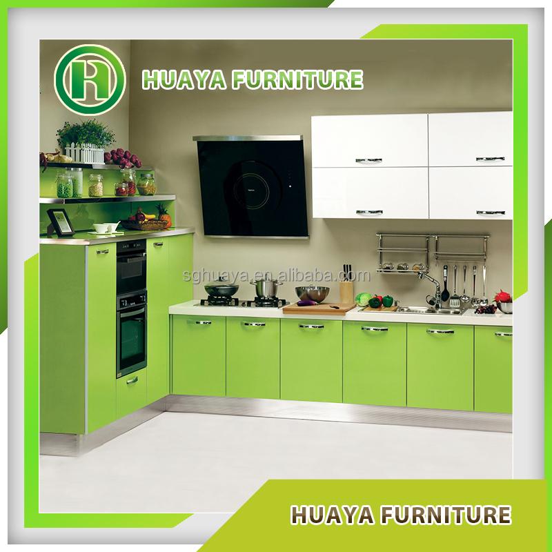 Full Kitchen Cabinet Set: Modular Pvc Laminated Whole Kitchen Cabinet Set