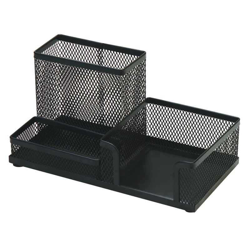 Metal mesh squareness pen holder desk organizer ,multifunction pen holder for sale
