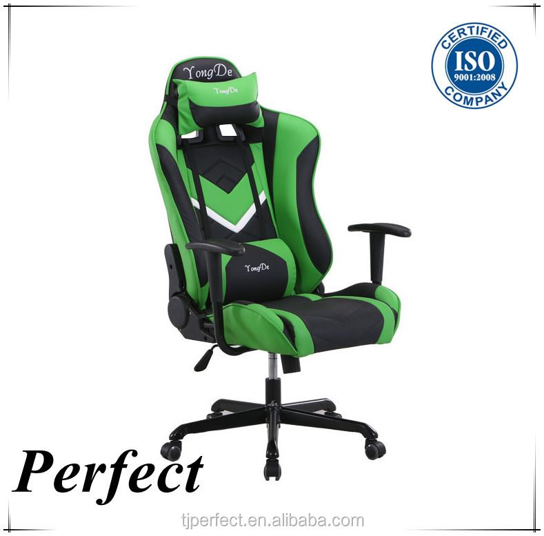 Nouveau design vert chaise de course de jeu de voiture for Chaise de voiture
