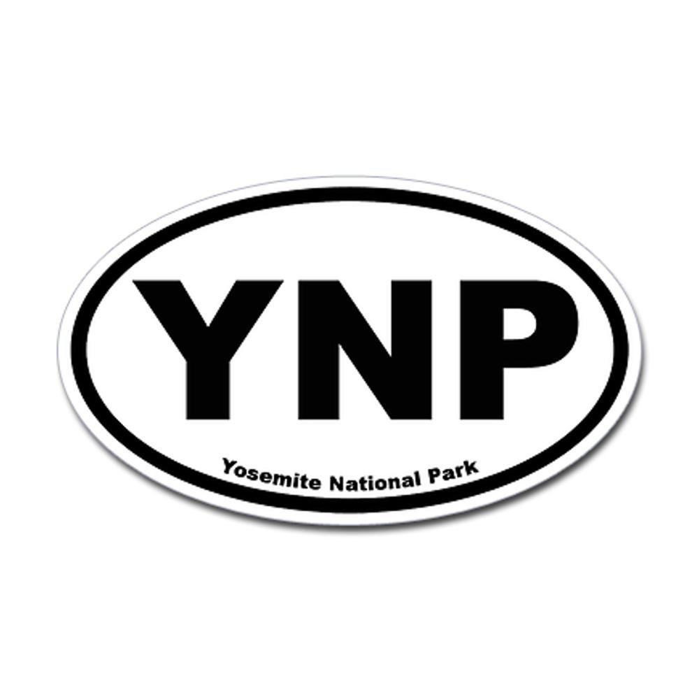 CafePress - Yosemite National Park Oval Sticker - Oval Bumper Sticker, Euro Oval Car Decal