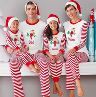 2016 Christmas printed leisure wear pajamas family pajamas suit