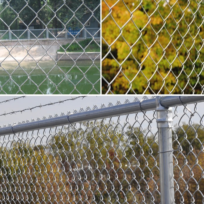 Black pvc coated chain link fence 6ft