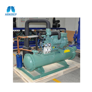 Water Cooled Bitzer Screw Compressor Refrigeration Condensing Unit for Cold  Store