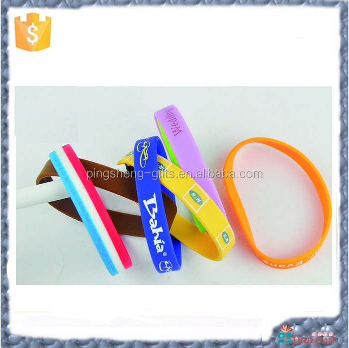 2016 promotional gifts rubber silicon bracelet / custom silicon wrist band / silicon wristband