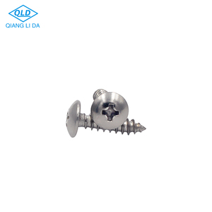 Self tapping pan head countersunk cross SS machine screw
