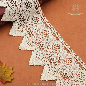 L30012 guipure boder lace trim from China Manufacture customize cotton lace