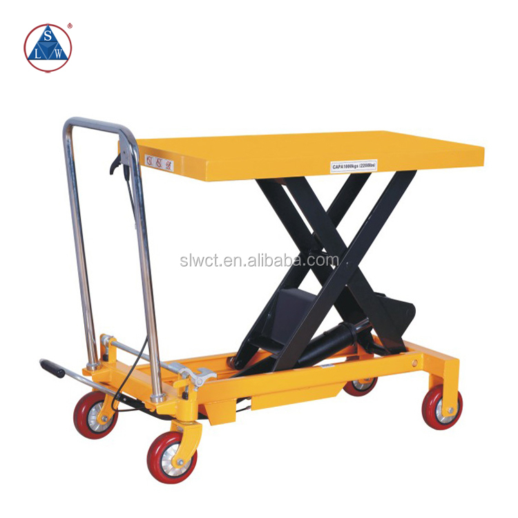 1000kg Heavy Duty Manual Hydraulic Goods Trolley