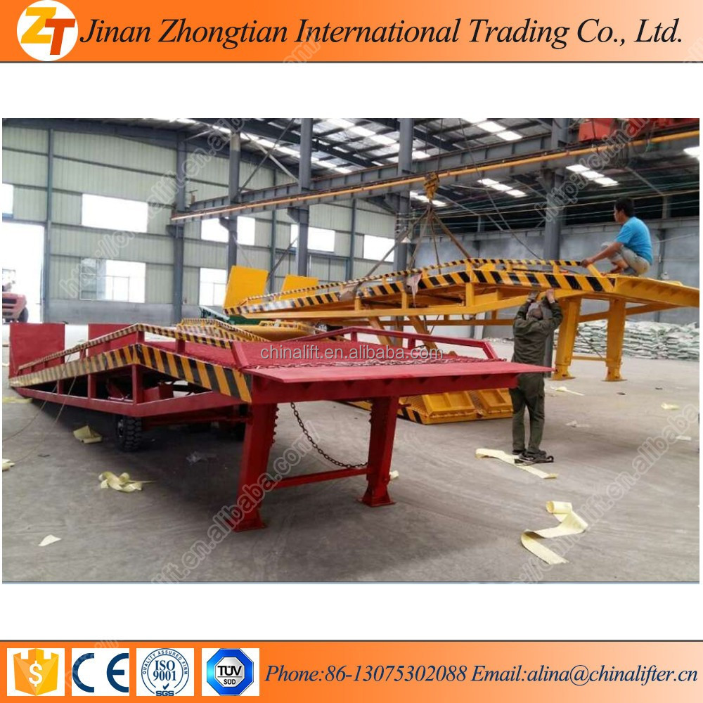 Movable hydraulic Container goods loading ramp Hydraulic yard ramps
