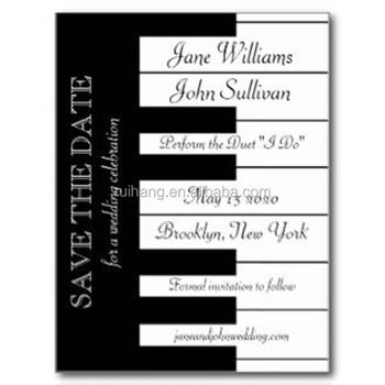 Personalized Romantic Black White Piano Keyboard Music Themed Wedding Invitations Buy Laser Cut Wedding Invitations Invitation Wedding
