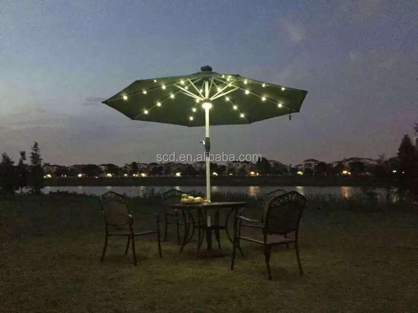 High Quality Led Light Umbrella Remote Control Outdoor