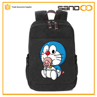 sandoo hot sale cute large canvas teens school bags for boys girls