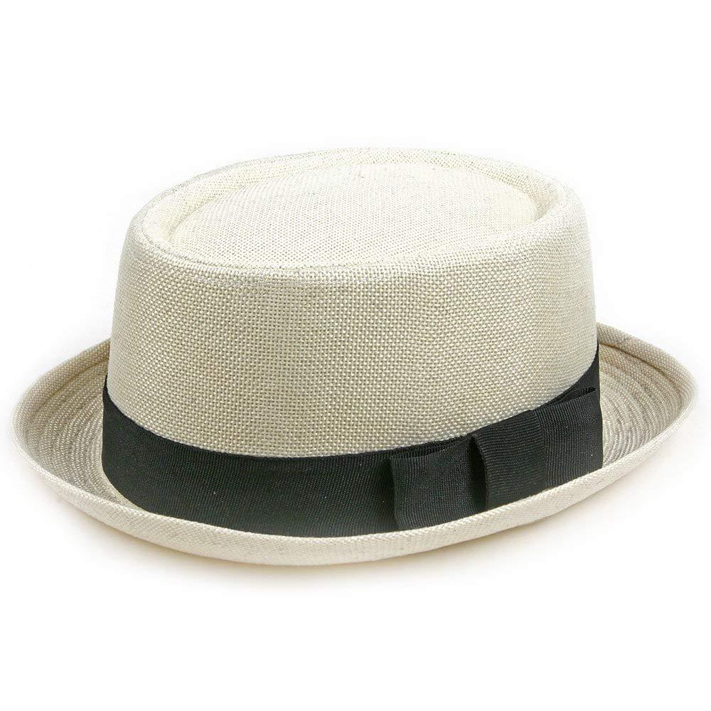 f3903703d00 Get Quotations · POP Fashionwear Fashion Porkpie Straw Fedora Hat White